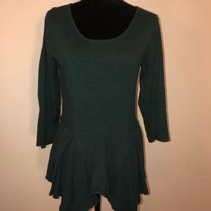 Hunter Green Peplum Sweater